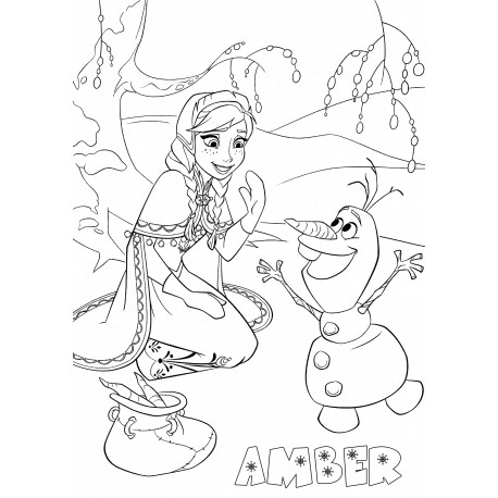 Personalised Frozen A3 Colouring Pictures (Set of 5)