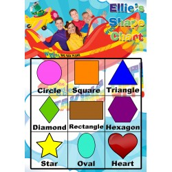 Personalised Kid's Shapes Chart