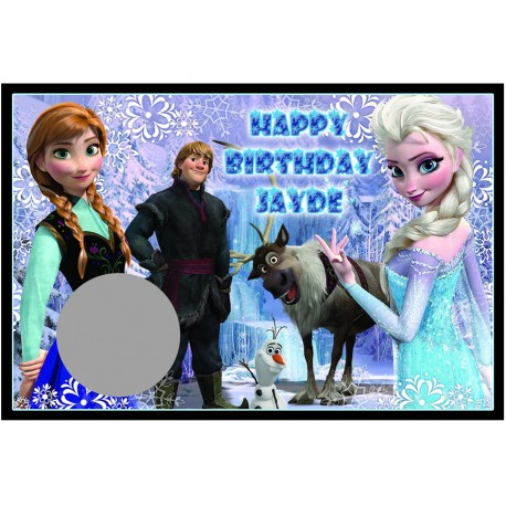 Personalised Frozen Scratch Cards