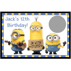 Personalised Minion Scratch Cards