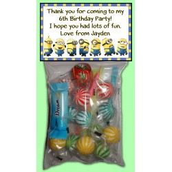 Personalised Minion Lolly Bags