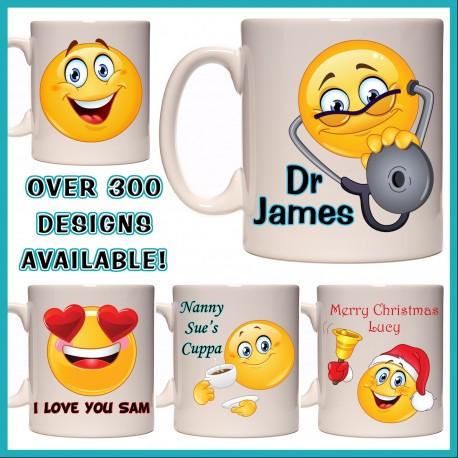 Personalised Smiley Face - Emoji Mug