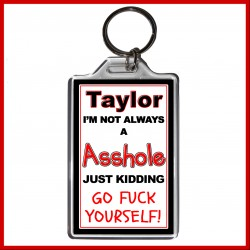 "Personalised ""I'm not always an Asshole"" Large Key Ring"
