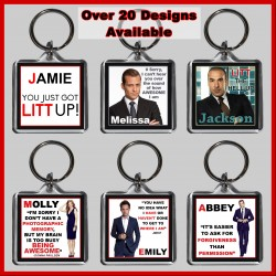Personalised Suits Square Key Ring