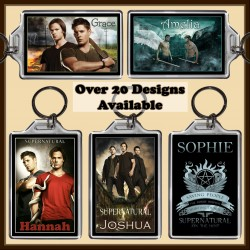 Personalised SuperNatural Large Key Ring