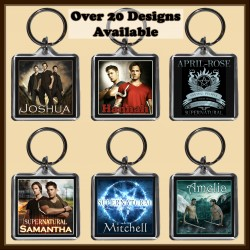 Personalised SuperNatural Square Key Ring