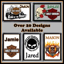 Personalised Harley Davidson Fridge Magnet