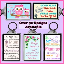 Personalised Mother's Day Large Key Ring