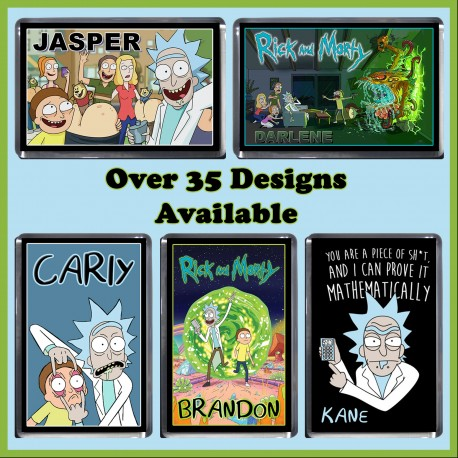 Personalised Rick and Morty Fridge Magnet