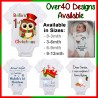 Personalised First Christmas Baby Onesie