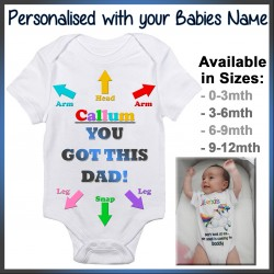 Personalised You got this Dad Baby Onesie