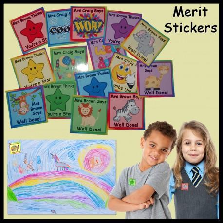 Personalised Teacher Merit Stickers