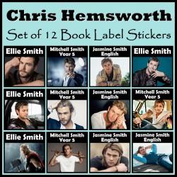 Personalised Chris Hemsworth Book Labels