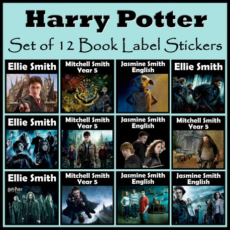 Personalised Harry Potter Book Labels