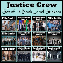 Personalised Justice Crew Book Labels