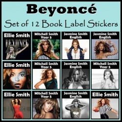 Personalised Beyonce Book Labels