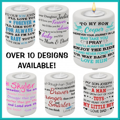 To My Son / To My Daughter Candle Holder