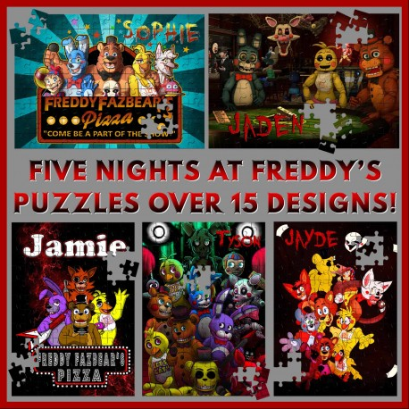 Personalised Five Nights at Freddy's Puzzle
