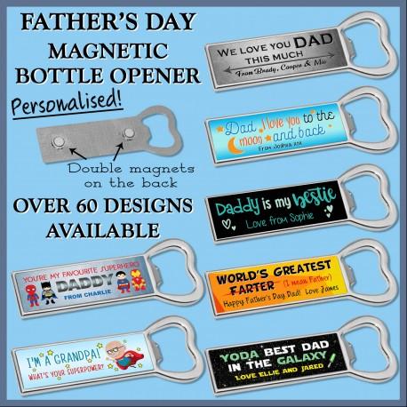 Father's Day Magnetic Bottle Opener