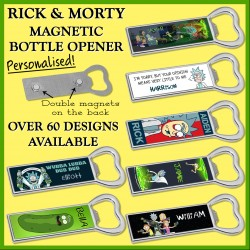 Rick and Morty Magnetic Bottle Opener