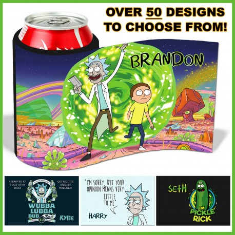 Personalised Rick and Morty Stubby Cooler