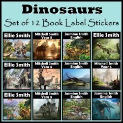 Personalised Dinosaur Book Labels