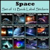 Personalised Space Book Labels