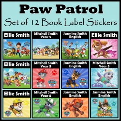 Personalised Paw Patrol Book Labels