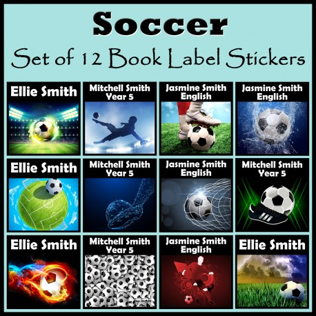 Personalised Soccer Book Labels