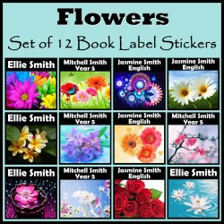 Personalised Flower Book Labels
