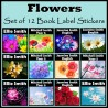 Personalised Flower Book Labels