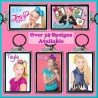 Personalised Jojo Siwa Large Key Ring