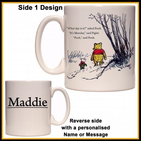 Personalised Pooh - Fuck It's Monday Mug