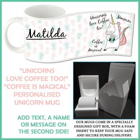Personalised Unicorns Love Coffee Mug