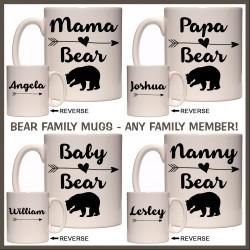 Personalised Mama Bear & Family Mug
