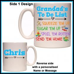 Personalised Grandad's To Do List Mug