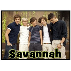 Personalised One Direction Name Stickers