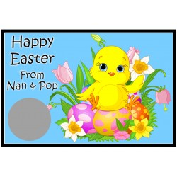 Personalised Easter Scratch Cards