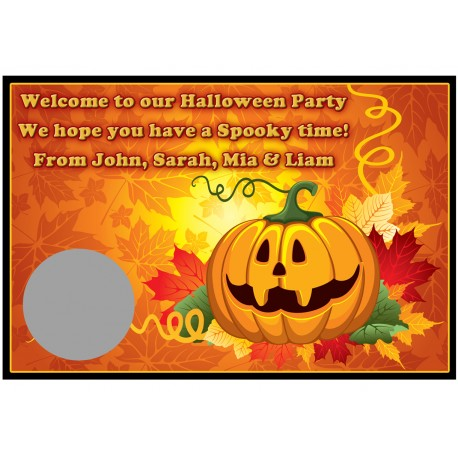 Personalised Halloween Scratch Cards