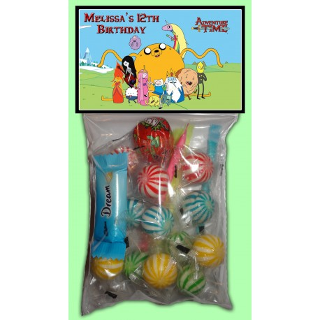 Personalised Adventure Time Lolly Bags