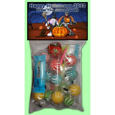 Personalised Halloween Lolly Bags