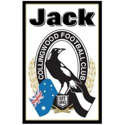 Personalised AFL Team Large Key Ring