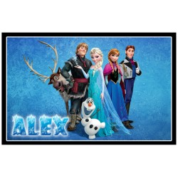 Personalised Frozen Large Key Ring