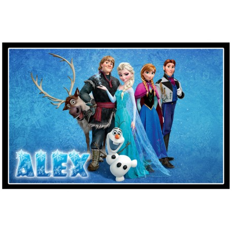 Personalised Frozen Fridge Magnet