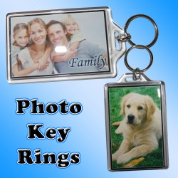 Personalised Photo Large Key Ring