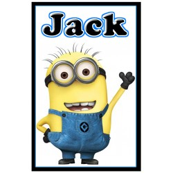 Personalised Minion Large Key Ring