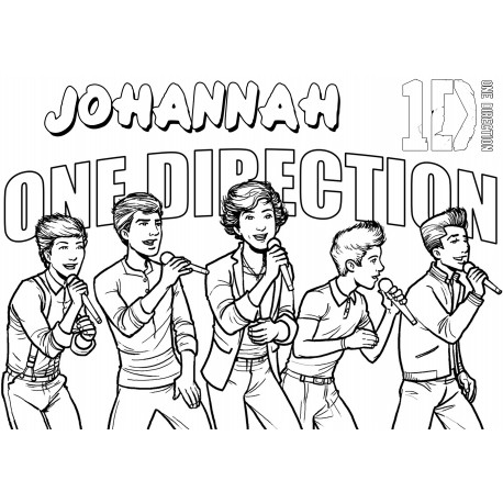 Personalised One Direction A3 Colouring Pictures (Set of 5)