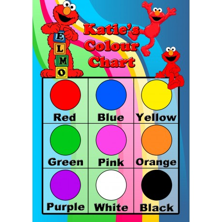 Personalised Kid's Colours Chart - Personalise It Products