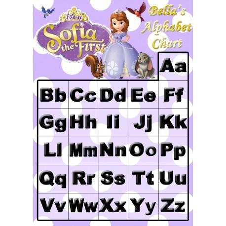 Personalised Kid's Alphabet Chart