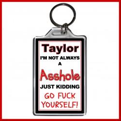 "Personalised ""I'm not always an Asshole"" Large Key Ring"